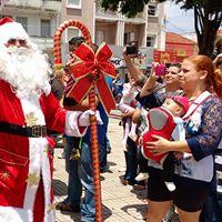 Chegada do Papai Noel  02/12 Praça da Matriz